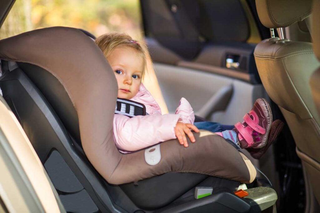 image of toddler in car seat