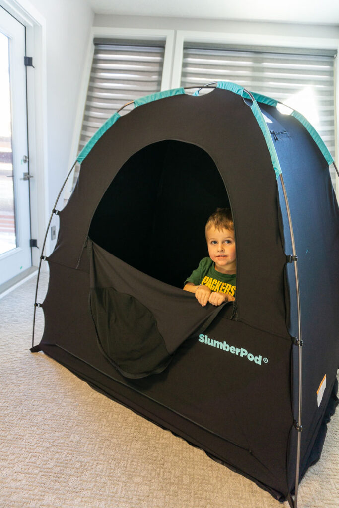 image of toddler in SlumberPod