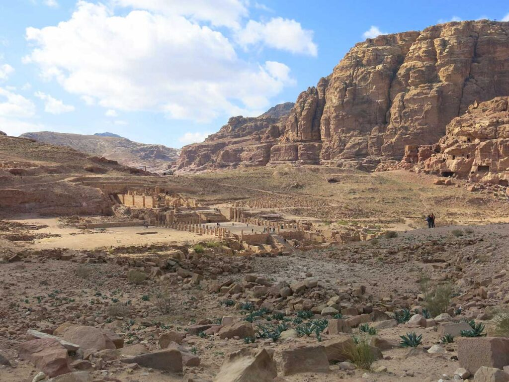 Image of Collonaded Street at Petra