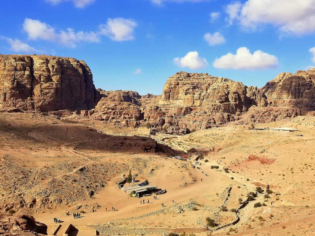 image of Valley from the Tombs at Petra