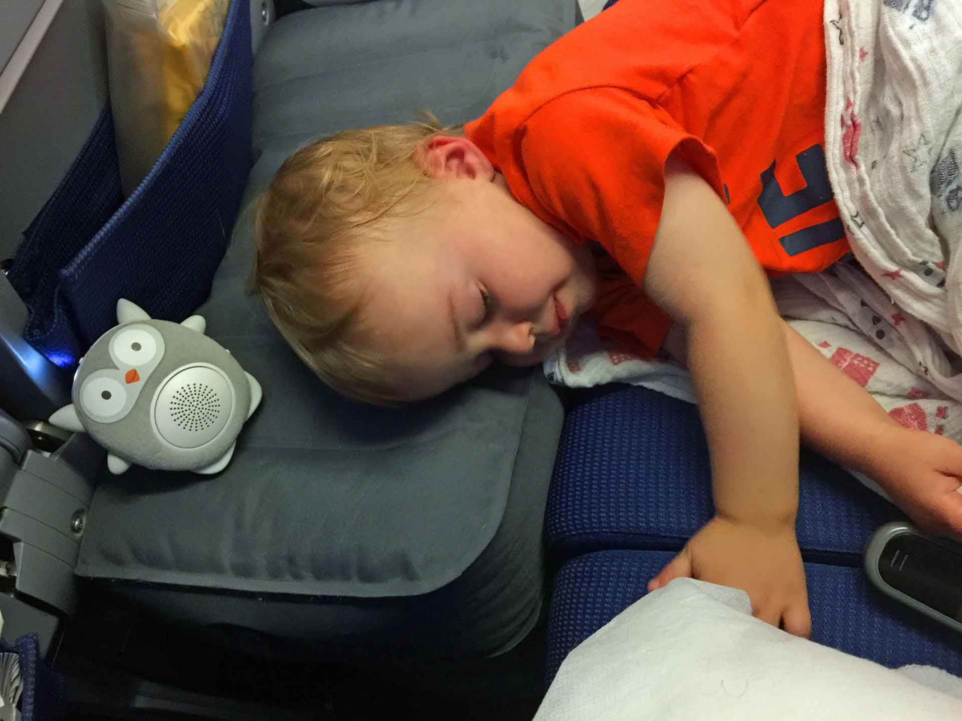 using white noise machine for baby on plane - travel gear for baby