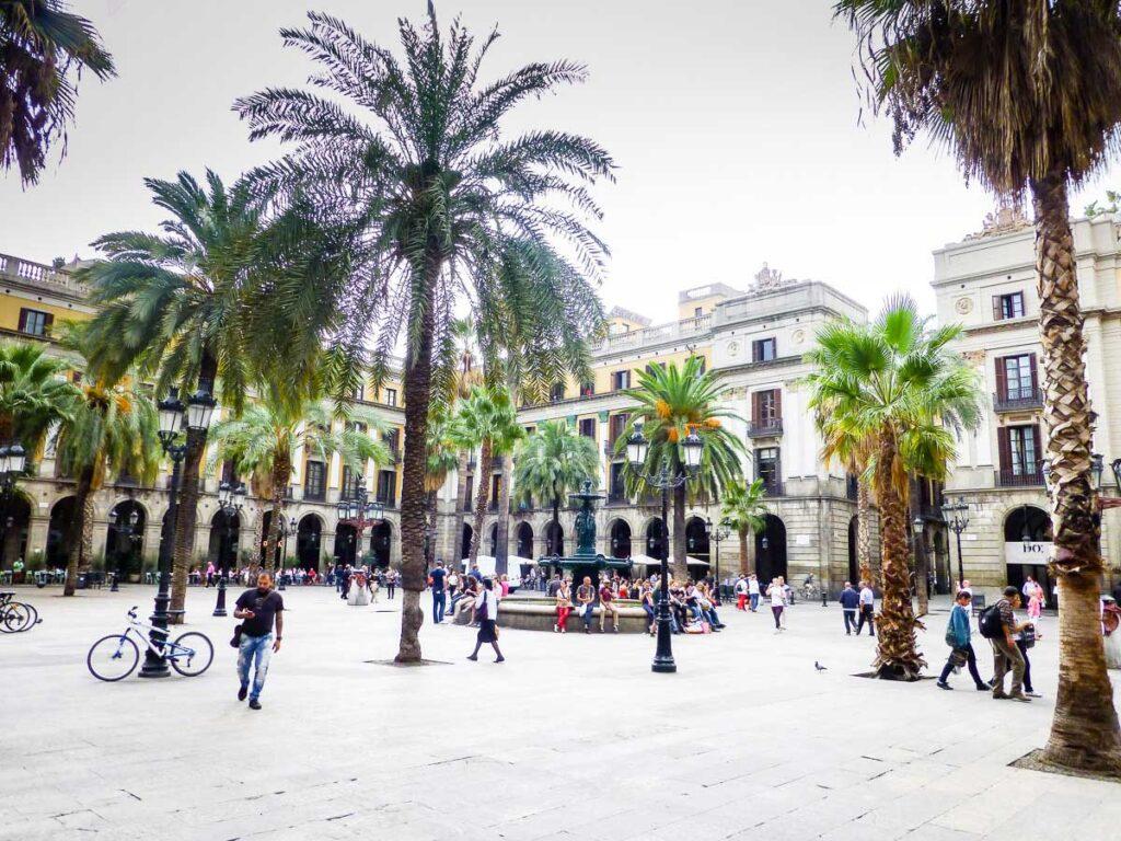 square in Barcelona