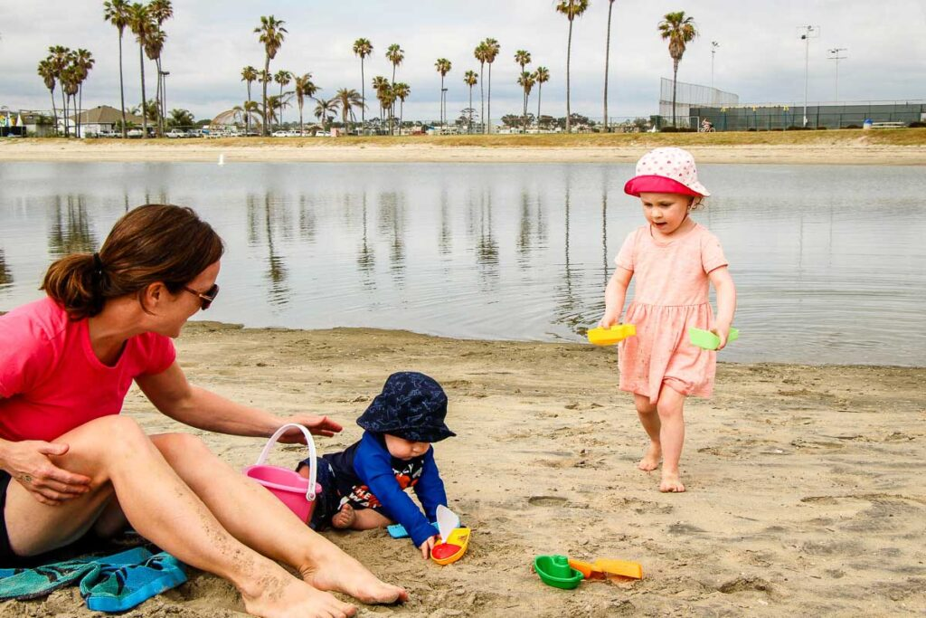 San Diego Beaches with a baby or toddler