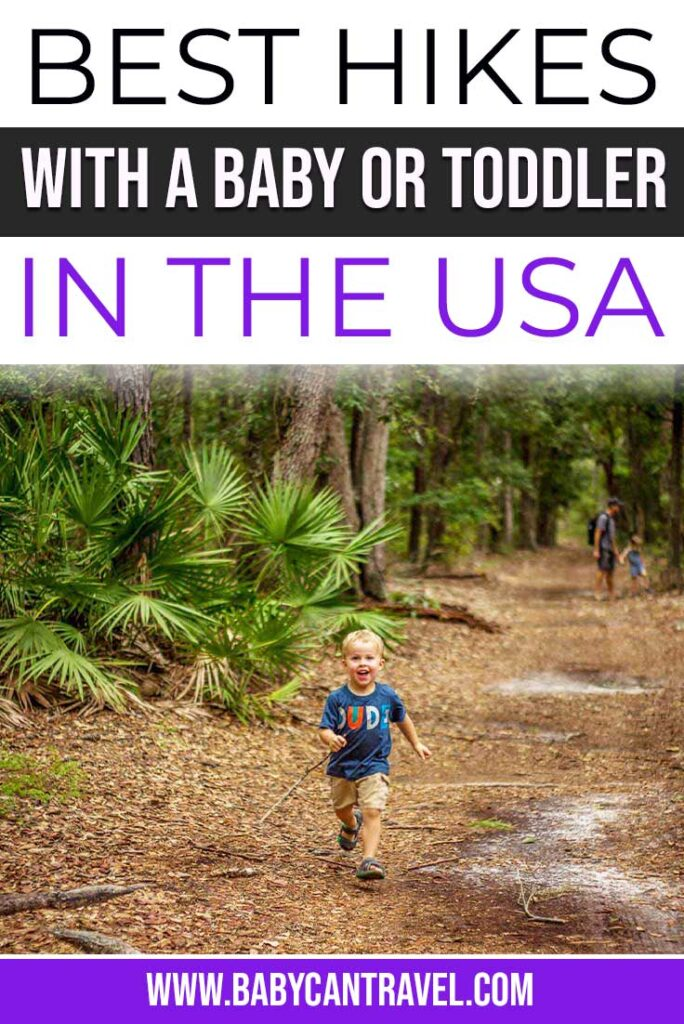 Best hikes with toddlers and babies in the USA