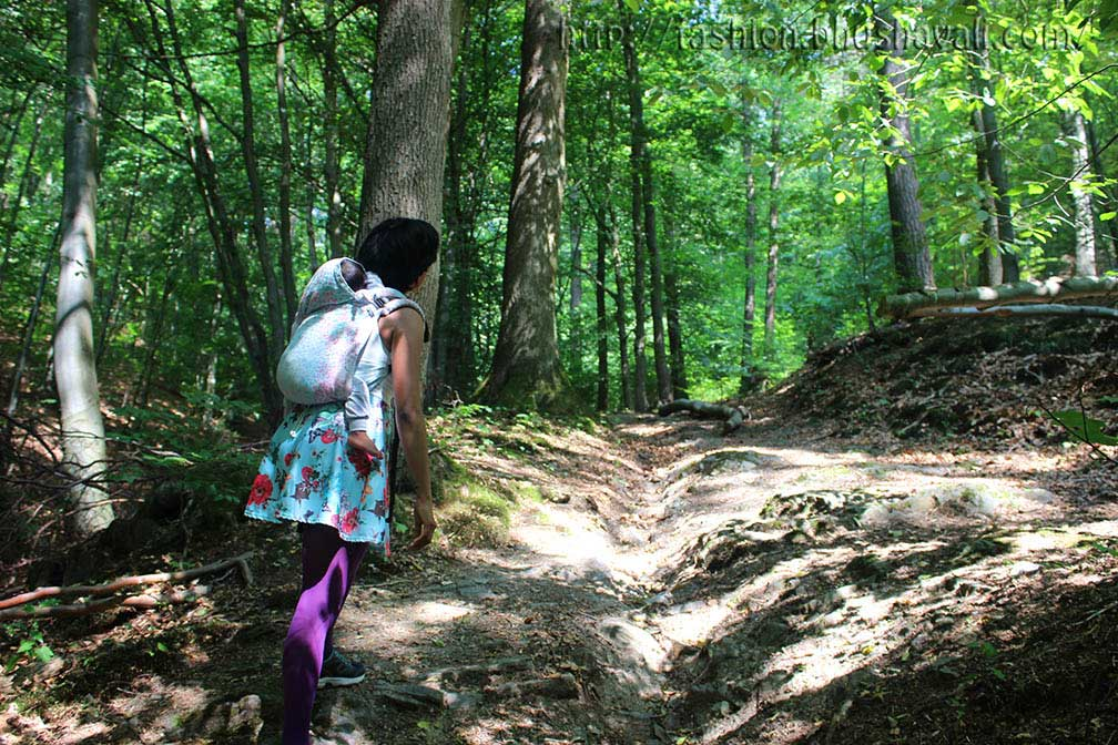 Belgian Ardennes hike with a baby