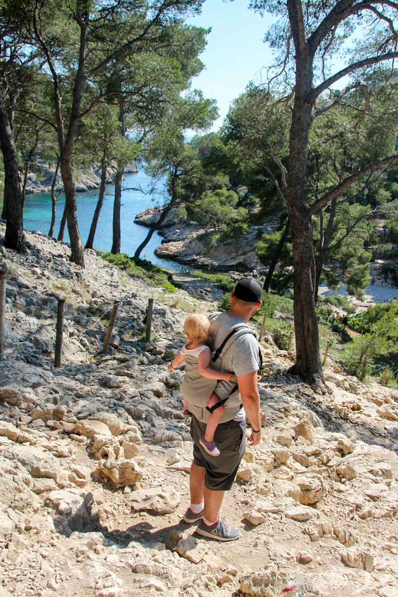 Hiking in Calanque National Park France with a baby or toddler