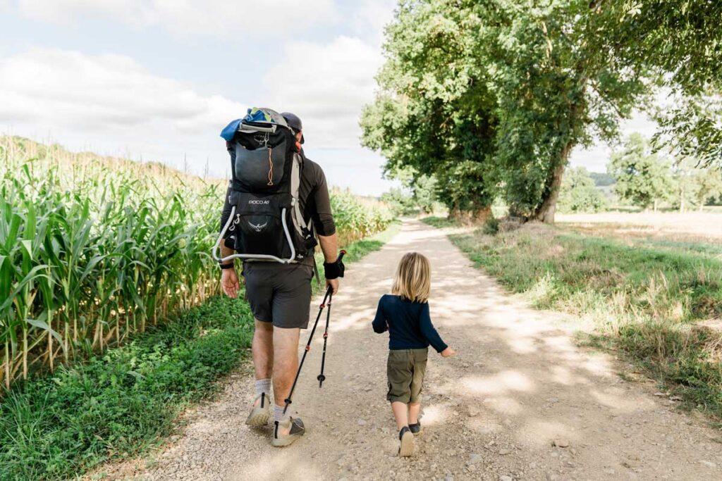 Hiking the Camino de Santiago with a toddler