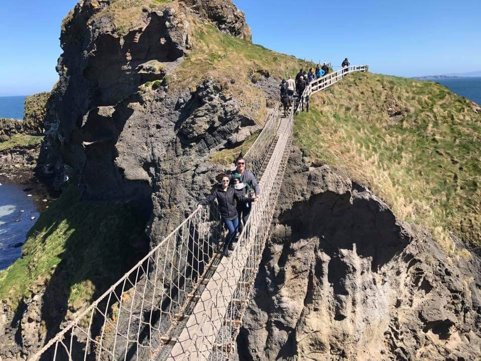 Carrick a Rede Rope Bridge hike in Ireland