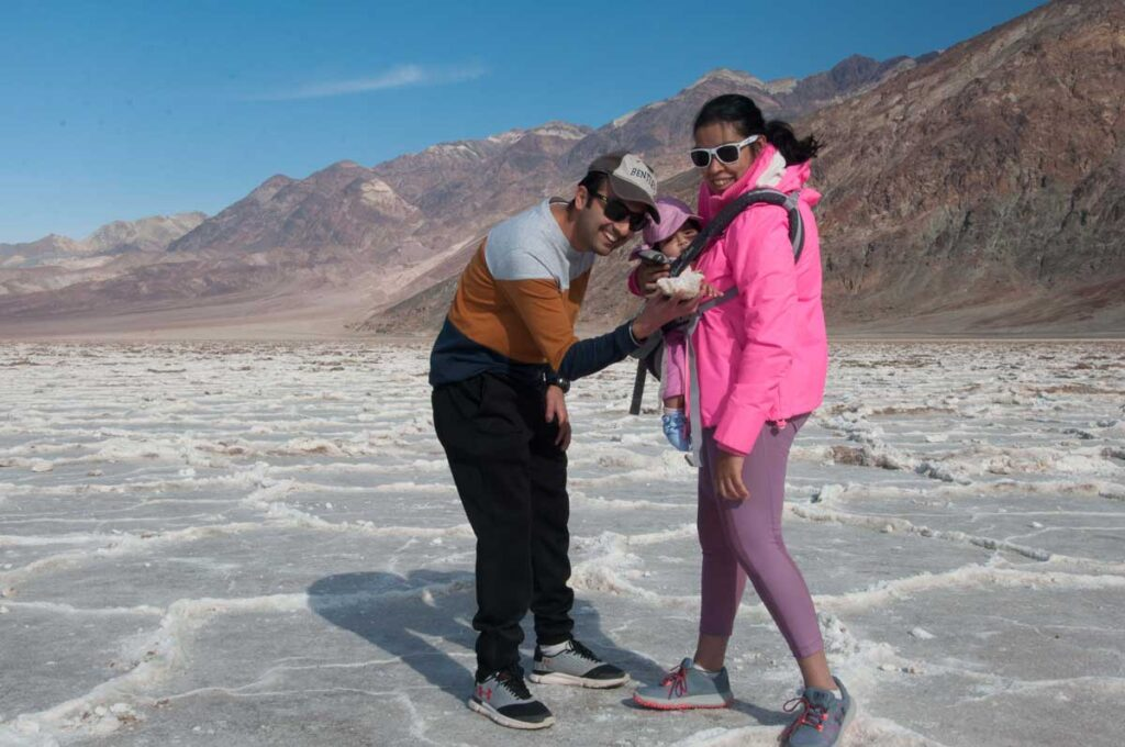 Death valley with a baby