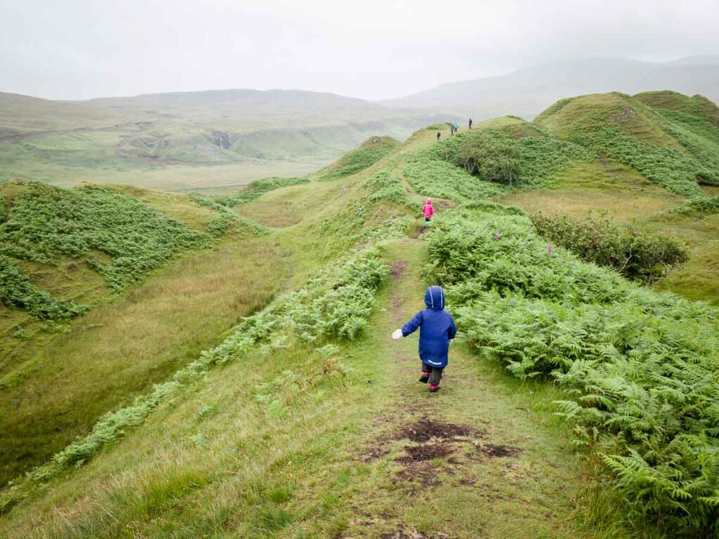 hiking to the Fairy Glen in Scotland with toddlers