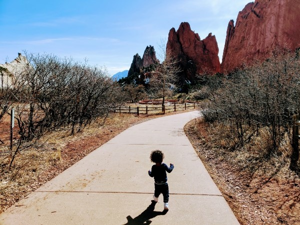 Garden of Gods hike with toddlers