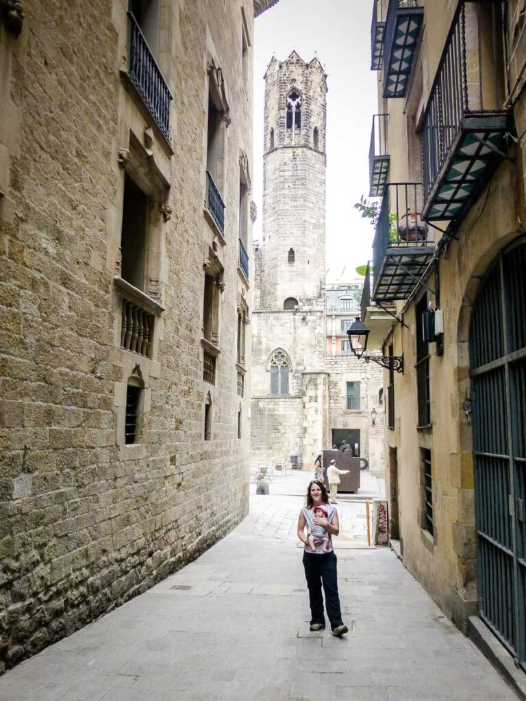 Getting ARound Barcelona with Baby in Baby Carrier