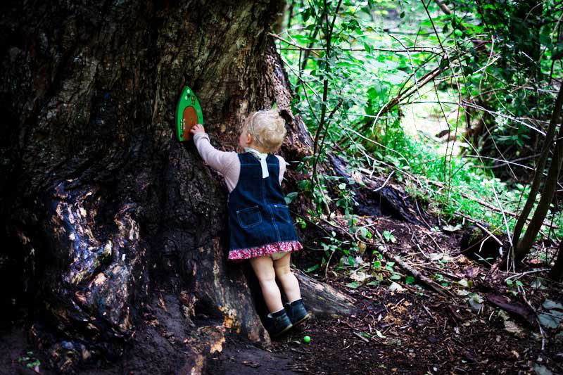 Hamner Springs Fairy Door Hike in New Zealand with a toddler