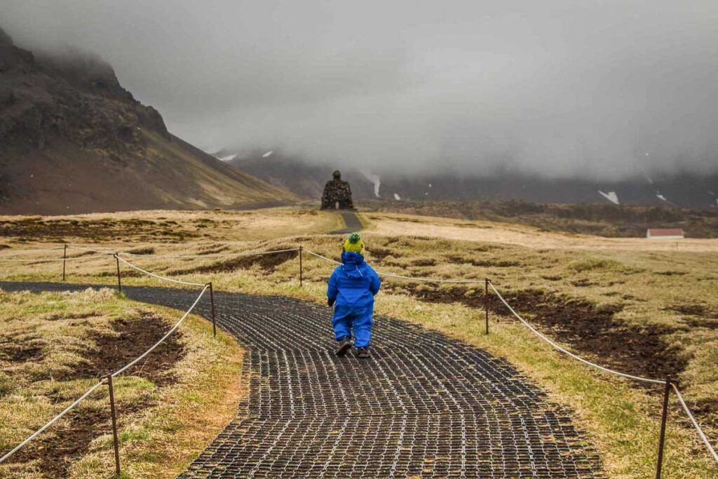 hiking in Iceland with a toddler
