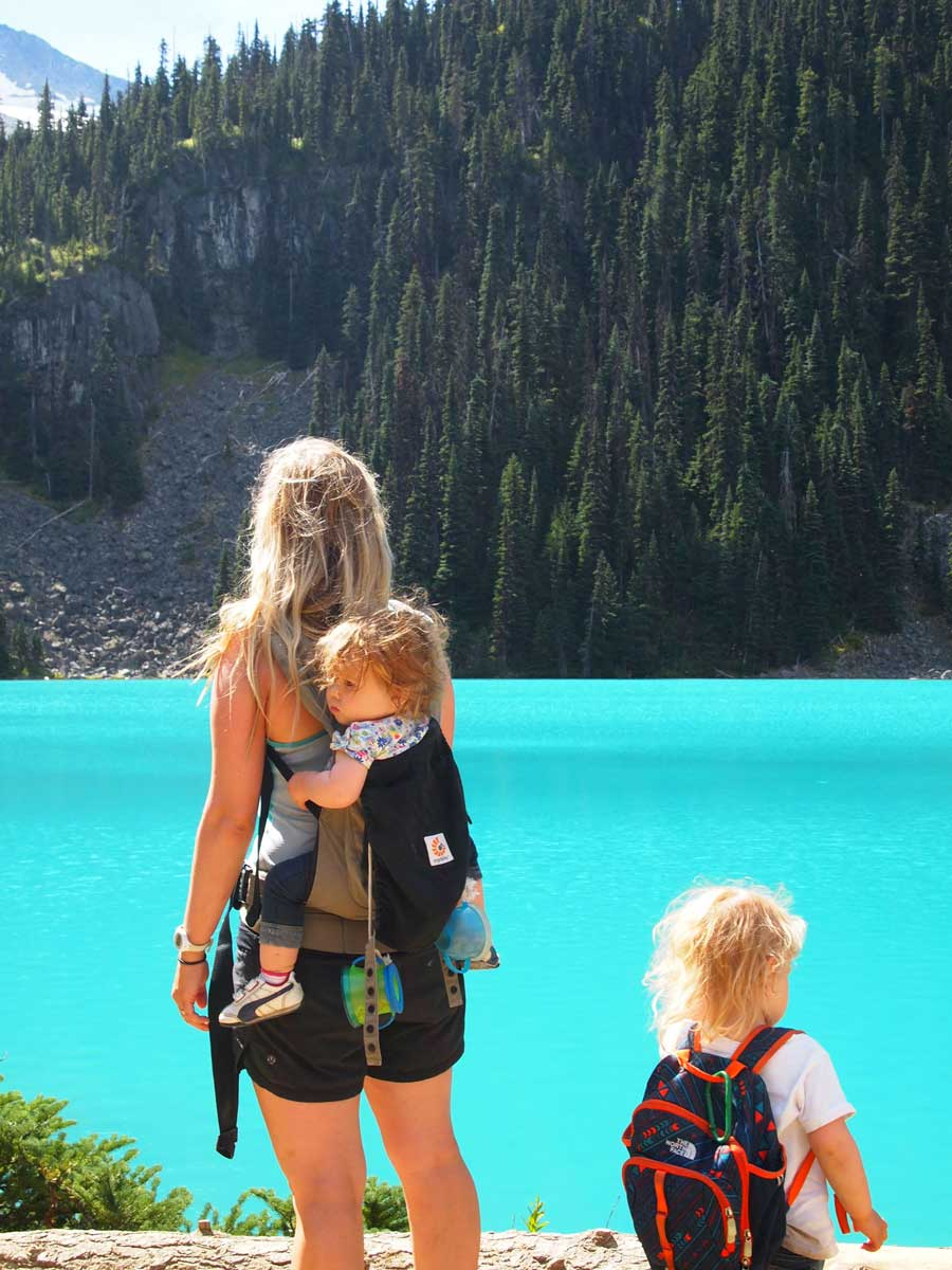 Joffre Lakes hike with toddlers