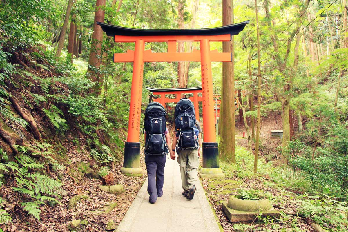 Fushimi Inari in Kyoto - hikes with baby & toddler
