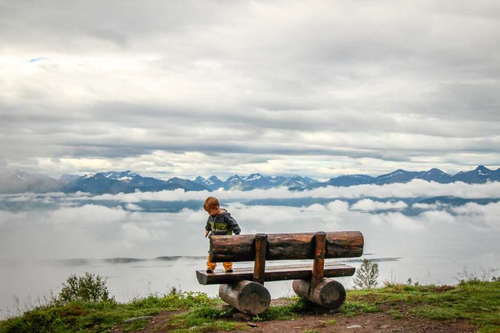 hiking in Norway with a toddler