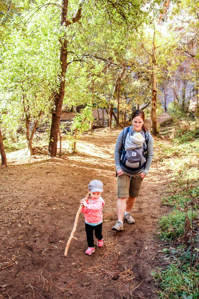 hiking with a baby and a toddler