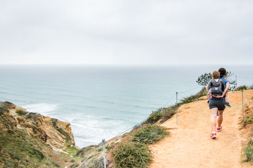 hiking Torrey Pines Nature Reserve with a toddler