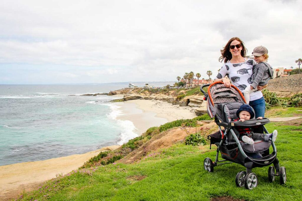 La Jolla in San Diego with a baby and toddler