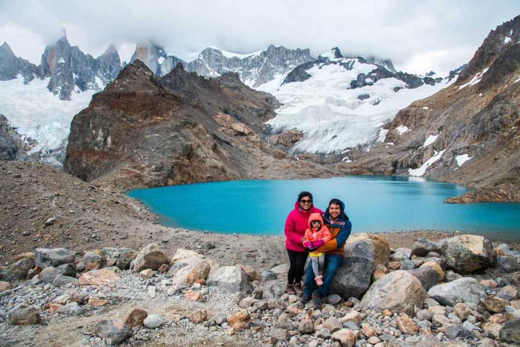Laguna de Los Tres Hike in Argentina with a toddler