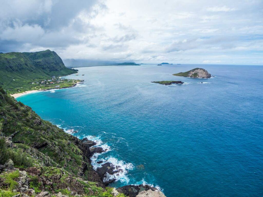 View from Makapu'u lighthouse hike with a baby or toddler