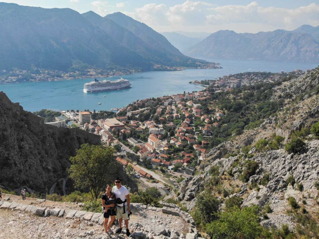 Montenegro Ladder of Kotor hike with a baby