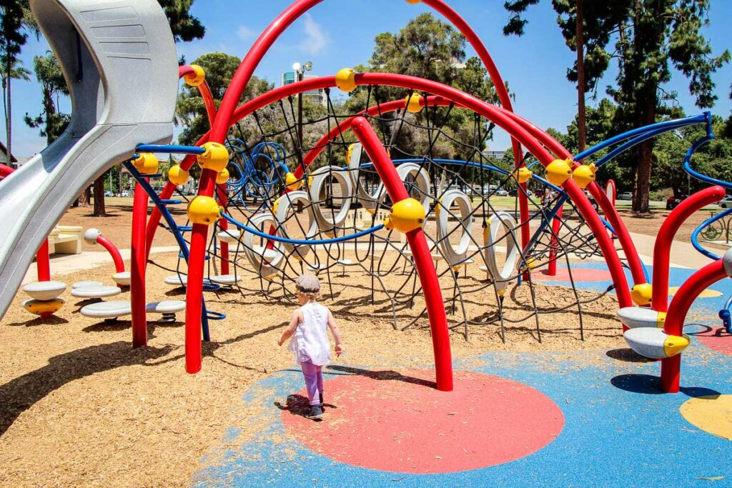 sixth avenue playground in San Diego California with toddler