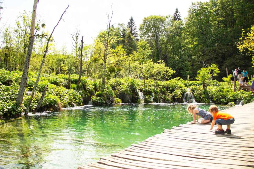 Plitvice Lakes National Park with toddlers