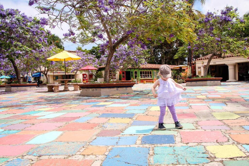 The Spanish Village Art Center is found in Balboa Park San Diego
