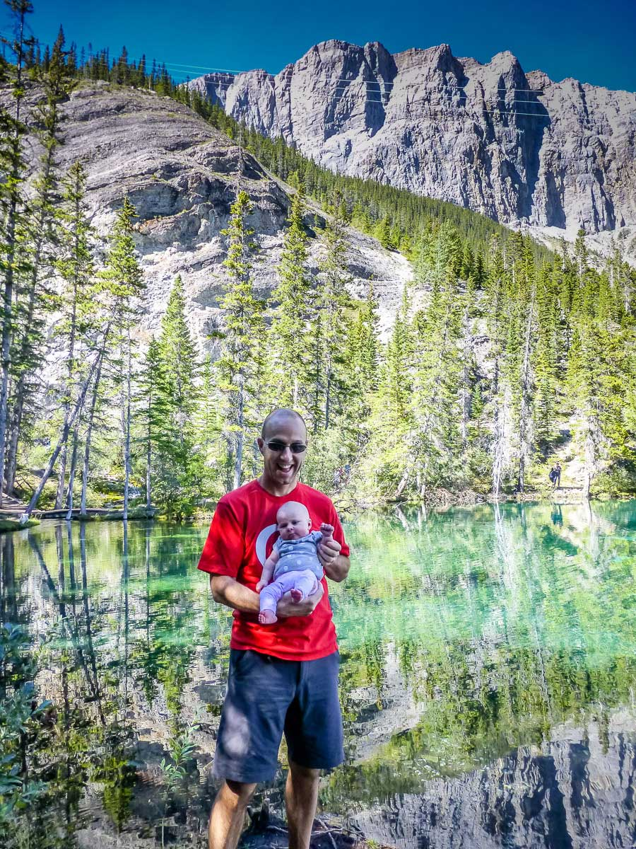 hiking with an infant