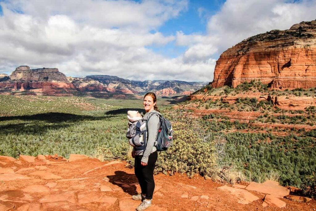 hiking with a baby in sedona Arizona