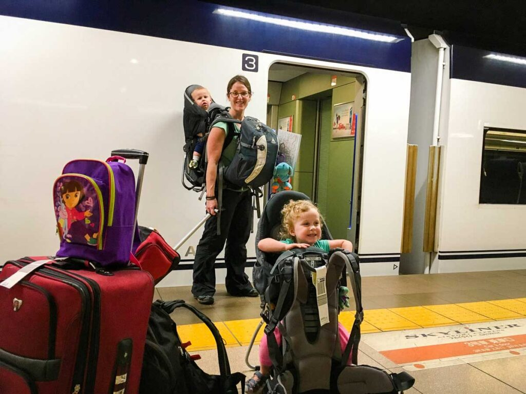 travel with hiking backpack carriers in japan