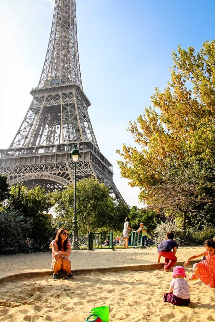 Eiffel Tower Playground - best of the Paris playgrounds