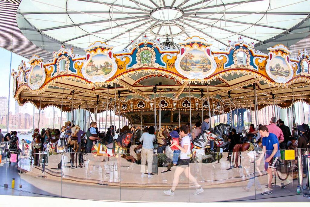 carousel in Brooklyn Bridge Park - best things to do with babies in NYC