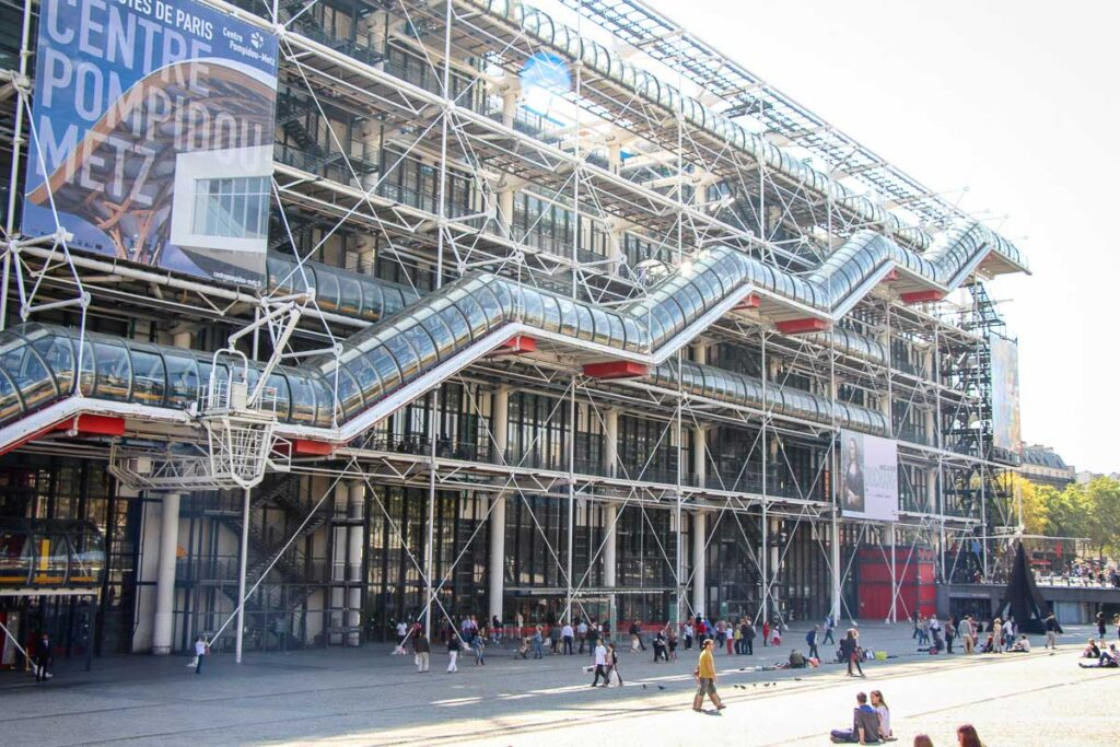 view of exterior of Centre Pompidou