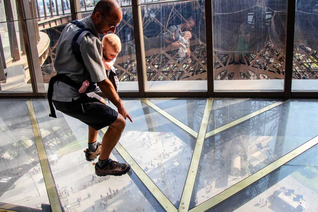Climbing Eiffel Tower with a baby or toddler