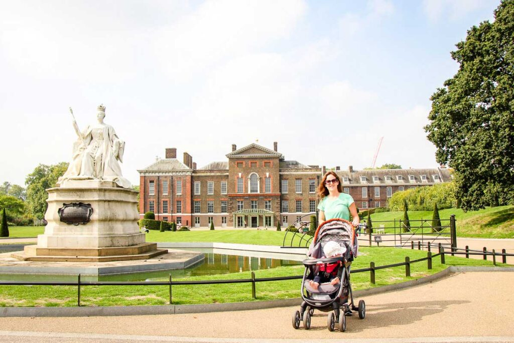 standing in front of Kensington Gardens London