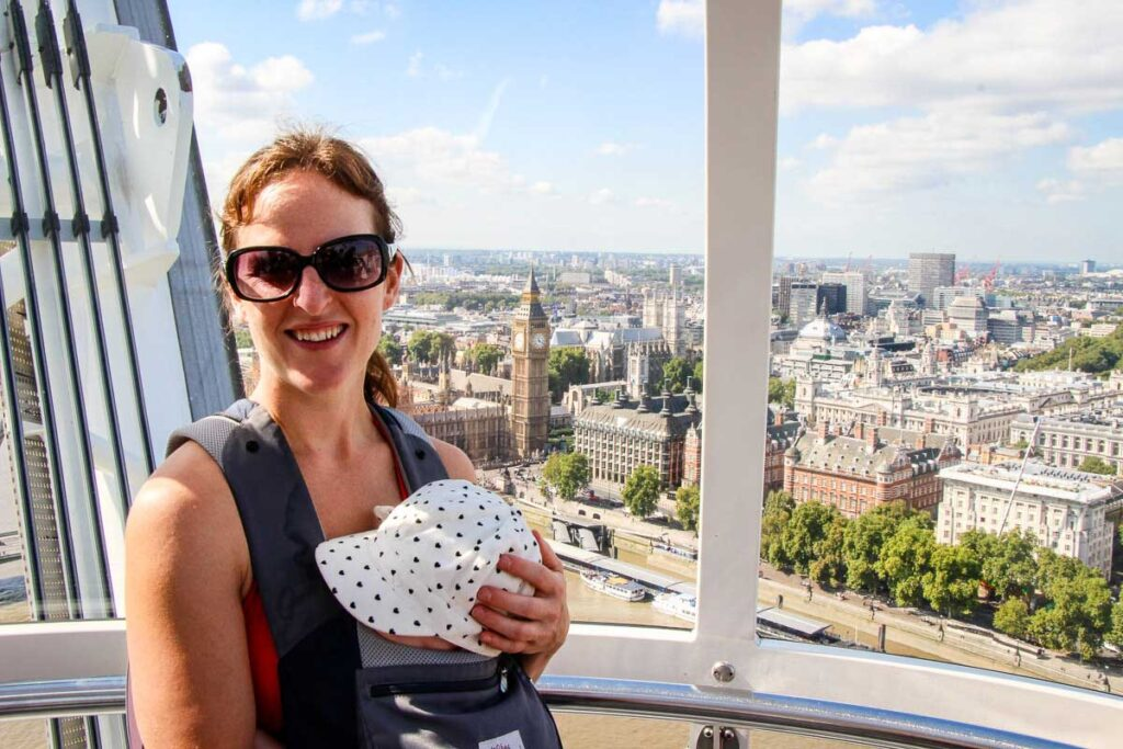 View from London Eye with a Baby