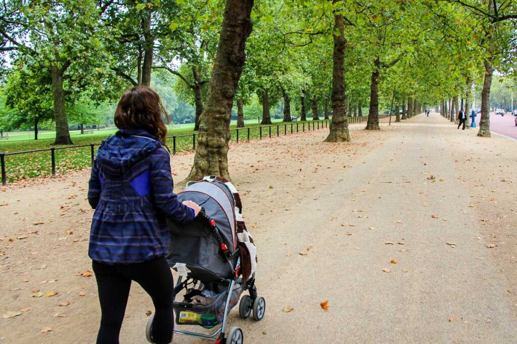 using a stroller in London with a toddler or baby
