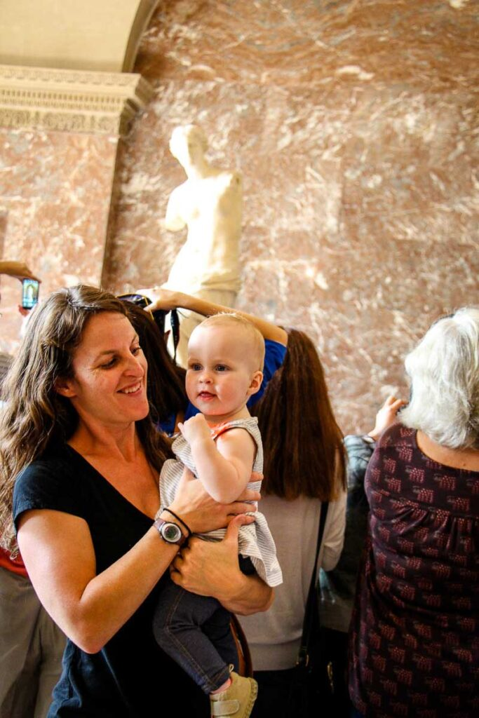 visiting Louvre in Paris with a toddler