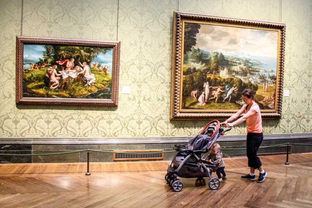 National Gallery London with stroller