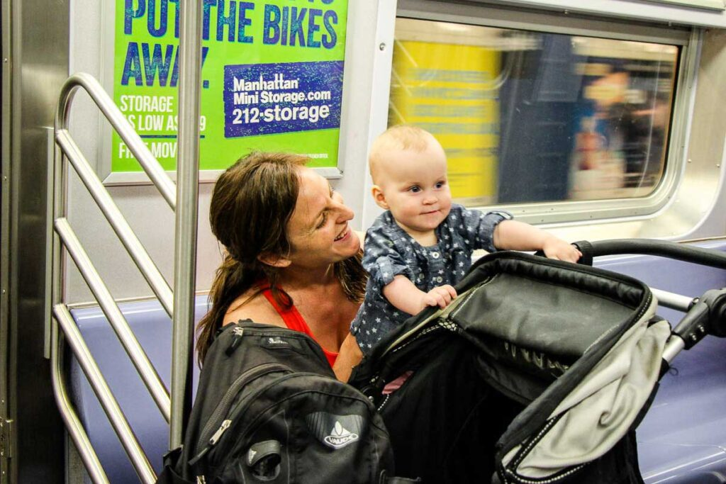 Getting around nyc with a baby on the subway