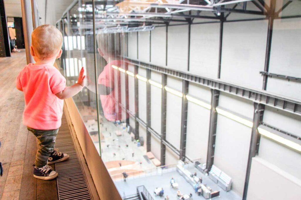 Toddler in London visiting Tate Modern