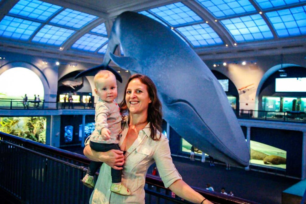 Natural History Museum in NYC with baby