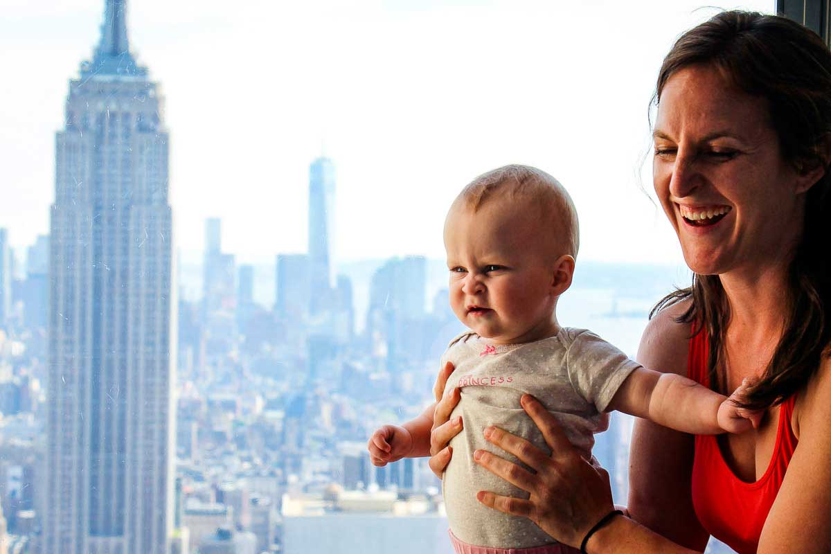Top of the Rock Observation Deck with a Baby in NYC