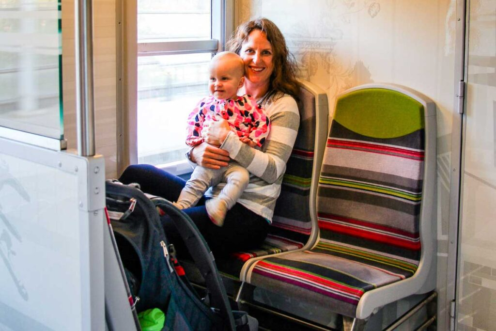 Taking RER to Versailles from Paris with a toddler
