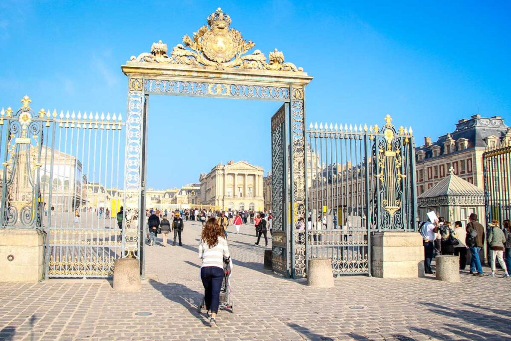 Visiting Versailles with a stroller