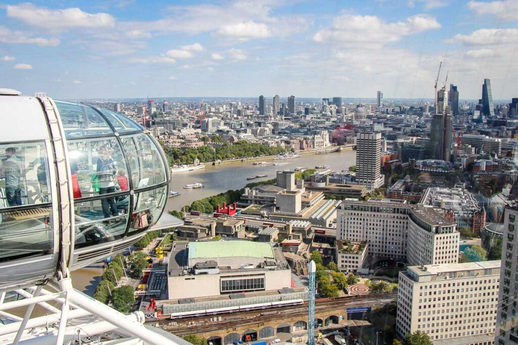View of London from London Eye