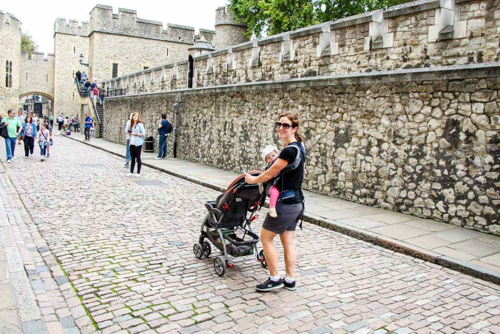 Visiting Tower of London with a baby